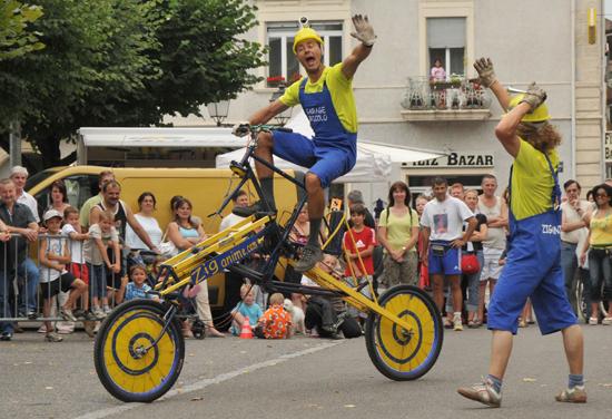Un des vélos rigolos de la Compagnie Ziganime